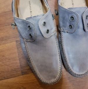 John Varvatos Leather Slip On Loafers Boat Shoes